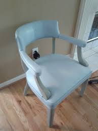 annie sloan chalk paint painted leather chair louis blue french linen youtube can you paint leather furniture