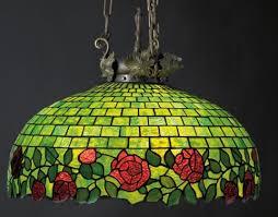 hanging leaded glass chandelier by john morgan