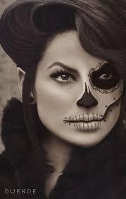 halloween makeup half dead