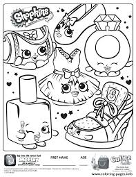 Popette Shoppies Coloring Pages Printable Shopkins Coloring Pages