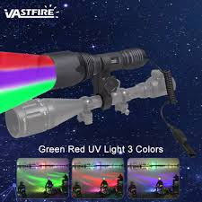 red green led hunting light blue blood