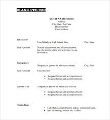 Free Fill In The Blank Resume Templates Best Free Fill In The Blank Resume Templates Viawebco