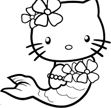 Small Picture Hello Kitty Mermaid Coloring Pages fablesfromthefriendscom