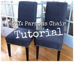 DIY ReUpholster Your Parsons Dining Chairs Tips From A Pro DIY Enchanting Reupholstered Dining Room Chairs