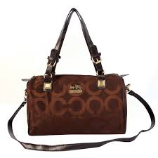 Coach In Monogram Medium Coffee Luggage Bags CBR