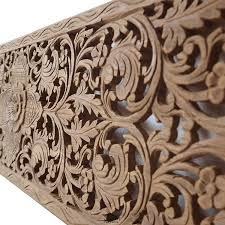 relief carved wooden wall art panel siam sawadee throughout carved wood wall panel renovation