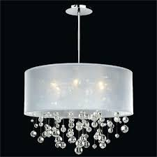 crystal chandelier drum shade amazing of drum chandelier with crystals silver drum pendant lighting
