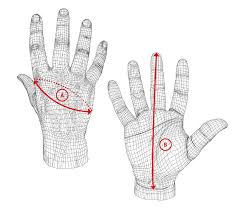 how to measure hand size for gloves five gloves size chart