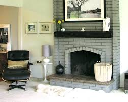 cool painted brick fireplace white painted brick fireplace image of paint brick fireplace grey painting brown