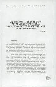 pdf beyond budgeting distinguishing modes of