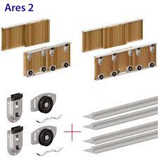 ares wardrobe sliding door gear track kit for bottom rolling setup for diy buller ltd you