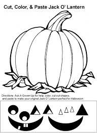 jack o lantern coloring book page