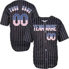 Mens Softball Jersey Designs Amazon Com Pinstriped Custom Baseball Jersey For Men Women