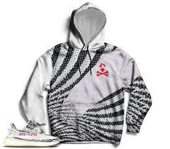 Yeezy Hoodie Size Chart Zebra Yeezy Boost 350 V2 Hoodie Pullover Hoodie For Zebra Yeezys Sneakermatch Yeezy Hoodie Zebra Yeezy Print Hoodie Cut Sew