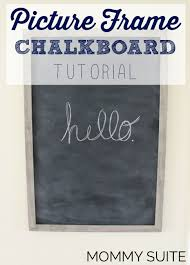 frame turned chalkboard info