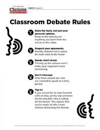 best high school debate topics ideas best  a lesson plan and some recommendations on how to encourage productive debate in the classroom
