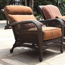 longboat key wicker reclining chair outdoor with ottoman cushions