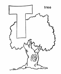 Small Picture ABC Alphabet Coloring Sheets T is for Tree HonkingDonkey