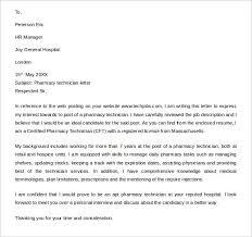 Sample Pharmacy Technician Letter