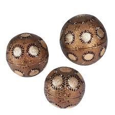Decorative Metal Balls Metal Gold Sunburst Decorative Balls 100 Pc Set 23