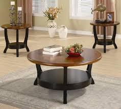 Three Piece Living Room Table Set Coaster Occasional Table Sets Contemporary 3 Piece Occasional