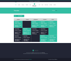 fitness timetable template brick fitness psd template by thejkthemes themeforest