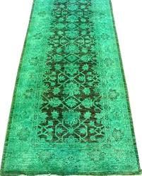 green runner rug olive appealing over dyed and oriental rugs handmade green runner rug