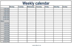 Calendar Formats Weekly Calendar Template With Times Rome Fontanacountryinn Com