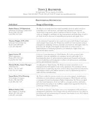 Resume Professional References Resume Job Reference Format – Slint.co