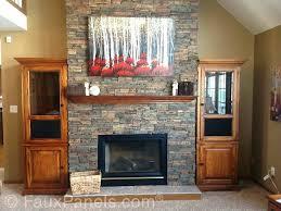diy stone fireplace surround stone veneer fireplace surround