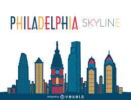 Graphic Design Philadelphia Philadelphia Skyline Illustration Vector Download