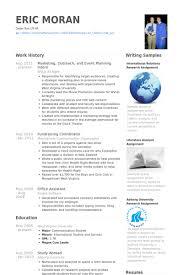 Event Planung ResumeProben VisualCV Lebenslauf Proben Datenbank Impressive Resume Event Planning
