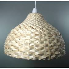 natural bamboo weave dome shaped ceiling light shade easy fit weaving patterns japanese