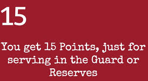 Air National Guard Retirement Point Value Chart Understanding Guard And Reserve Points Retirement