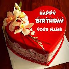 Happy Birthday Chocolate Cake With Name Edit Brithday Cake