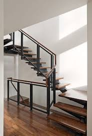 Metal Staircase with Floating Wooden Footing Ideas - Furniture | Stupic.com