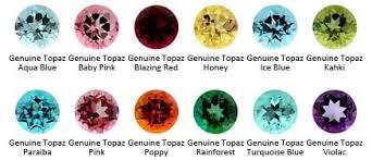 Genuine Topaz Color Chart Topaz Color What Color Is Topaz