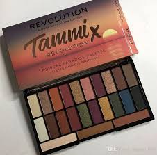 makeup revolution x tammi tropical paradise eyeshadow palette take me back pressed pigment palette vs dream highlighter 660340 red eyeshadow simple eye