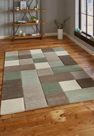 brooklyn 646 rugs in beige and green
