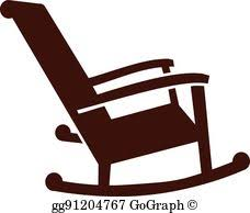 rocking chair silhouette. Female Hiker; Rocking Chair Icon Silhouette