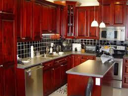 Modern Kitchen With Red Kitchen Cabinets Home Design And Decor Ideas
