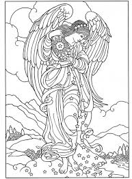 Small Picture Coloring Page Angel Coloring Pages For Adults Coloring Page and