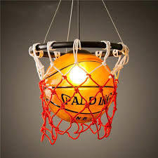 vintage basketball pendant light fixture hoop old ceiling light