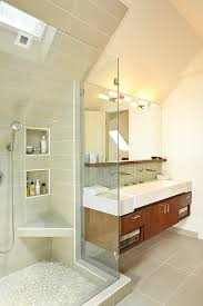 folding shower seat bathroom transitional with gloss cabinetry chrome hardware