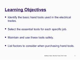 electrical tools list. electrical trades electrician\u0027s tools of the trade; 2. list