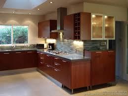 tile backsplash ideas for cherry wood cabinets home