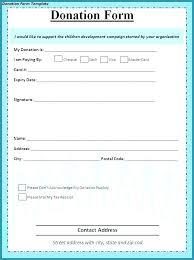 Fundraiser Pledge Form Template Donation Card Template Church Pledge Form Best Forms Maker For Word