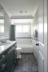 Fascinating Subway Tile Walls Dark Floor Bathrooms Photo Design ...