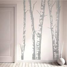 silver wall decal silver birch trees vinyl wall sticker silver glitter wall decals