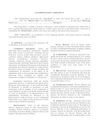 Contractor Confidentiality Agreements Best Associate Contractor Agreement Privacy Contract Template Employee